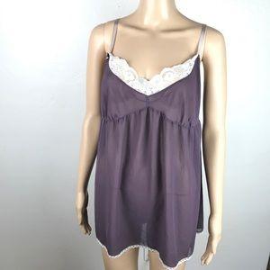 Victoria's Secret purple sheer sexy tunic top